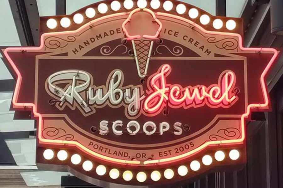 Ruby Jewel – Brown Butter Bourbon Pecan Ice Cream Sandwich