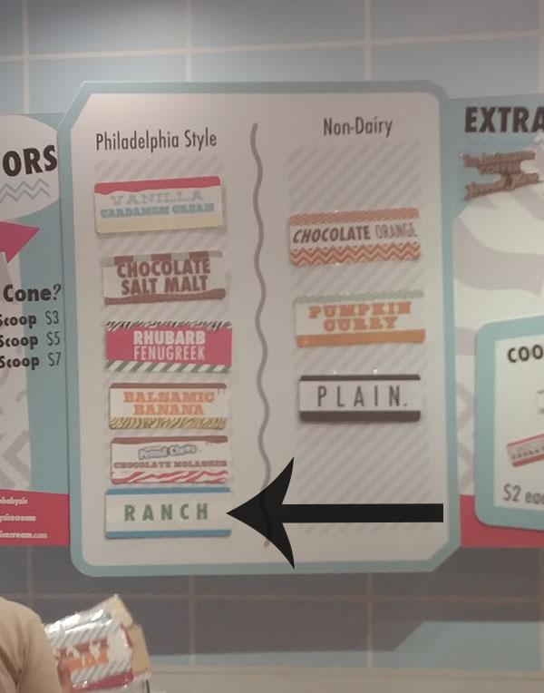 Little Baby's Ice Cream - Ranch Ice Cream Menuboard